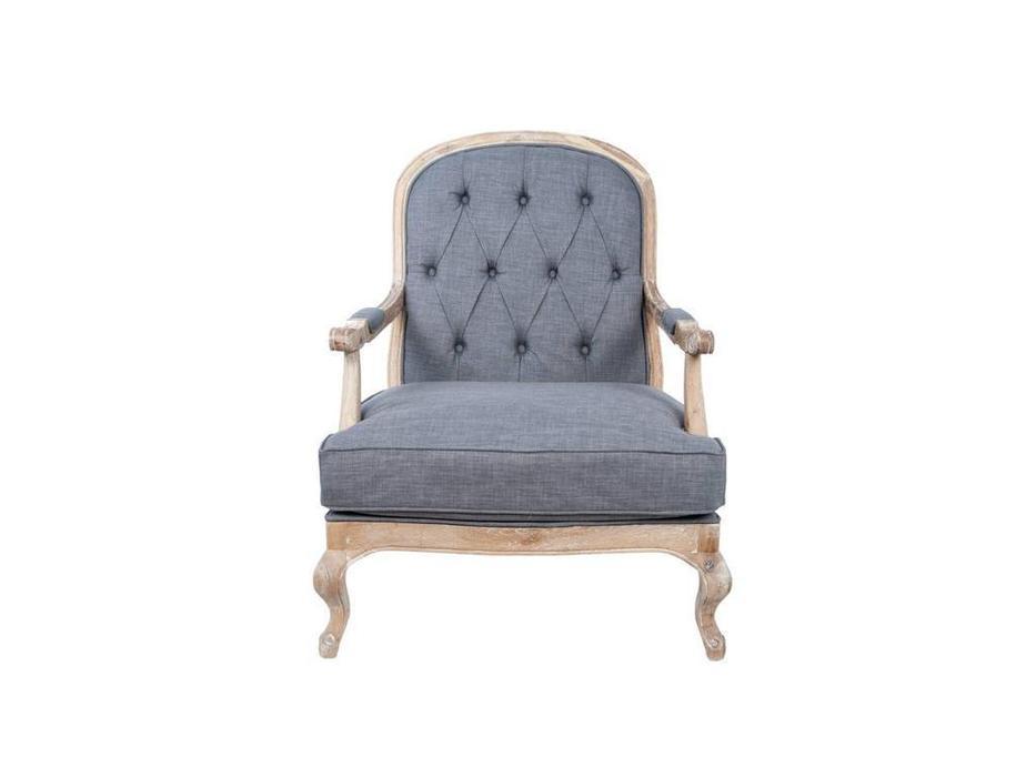 Interior: Honesta grey: кресло  с пуфом (ткань)