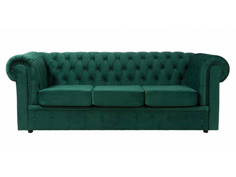 Dhome: Chesterfield: диван 3 местный  (зеленый)