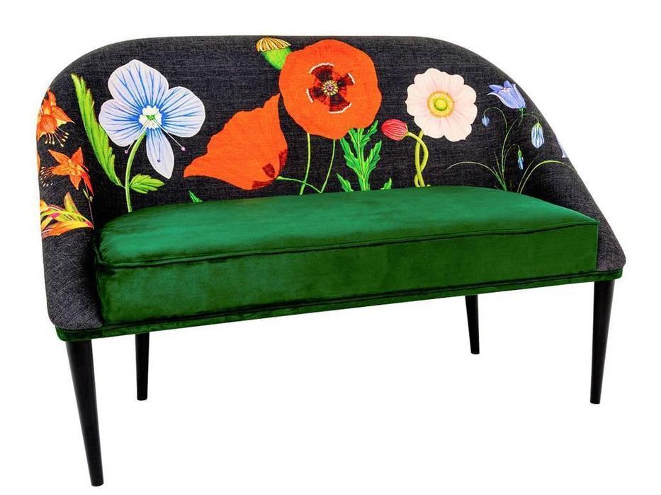 Dhome: Heavenly serenity: диван 2 местный  (зеленый, разноцветный)