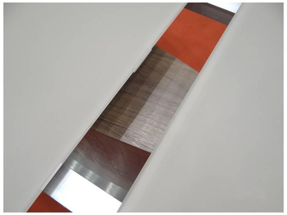 СФ: стол обеденный раскладной  (стекло, бежевый)