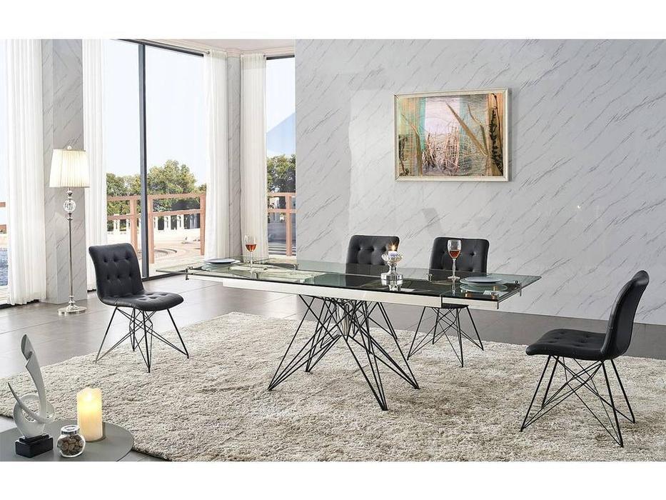 СФ: стол обеденный  140см раскладной стекло