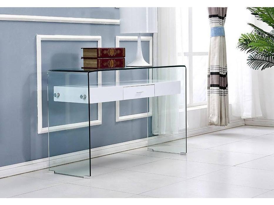 ESF: консоль  (стекло, белый)