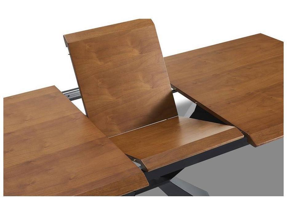 ESF: стол обеденный  раскладной (орех, черный)