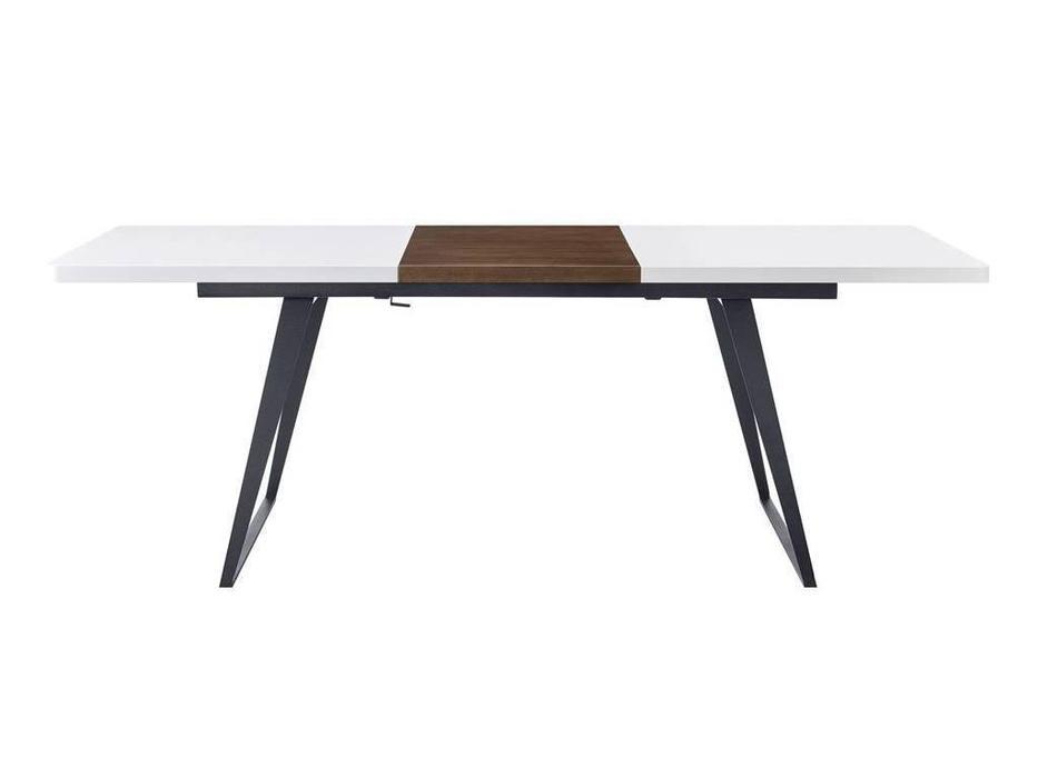 ESF: стол обеденный  раскладной (белый, орех)