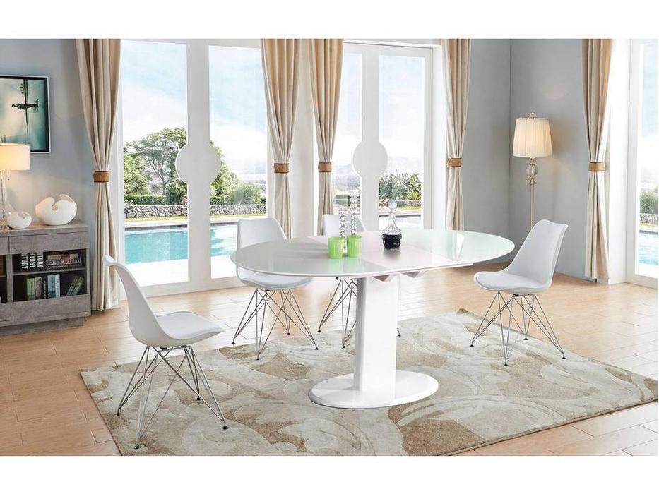 ESF: стол обеденный  раскладной (белый)