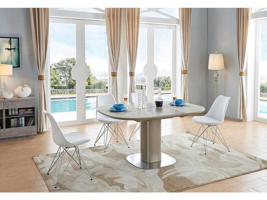 ESF: стол обеденный  раскладной (темно серый)
