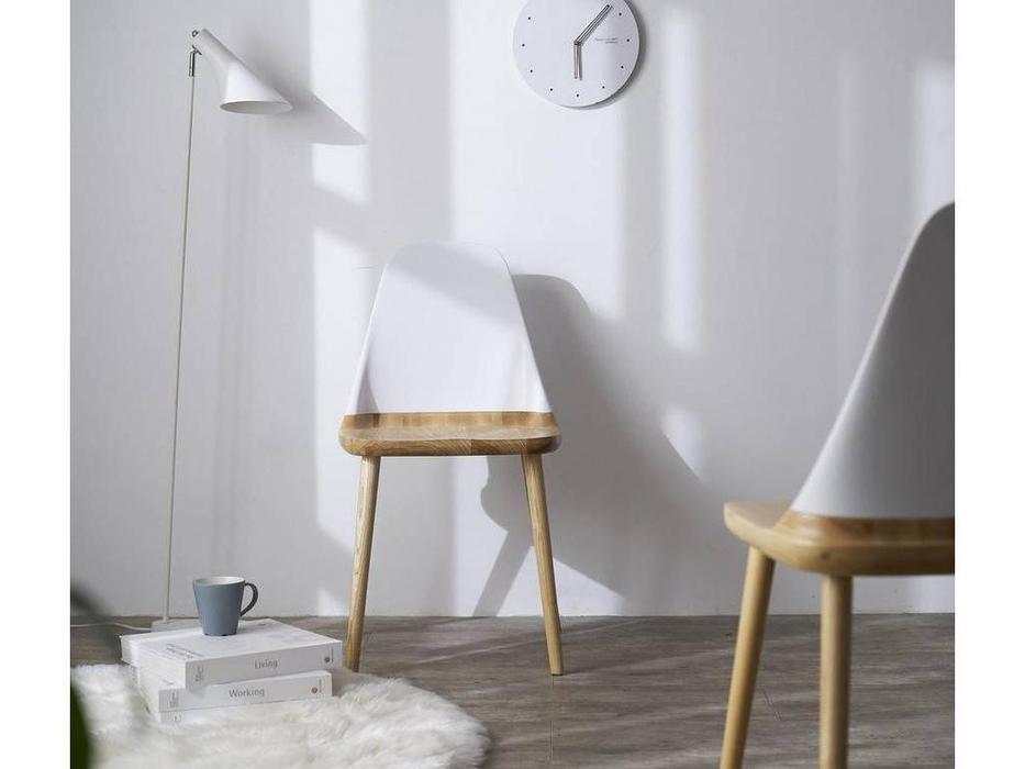 ESF: стул  (бук, белый)