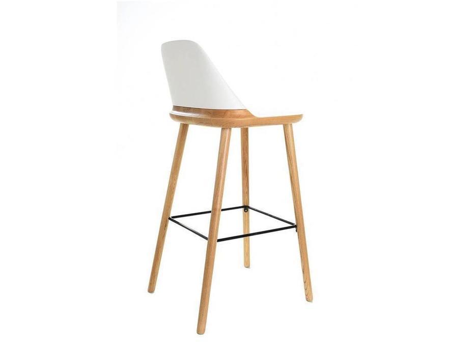 ESF: стул барный  (бук, белый)