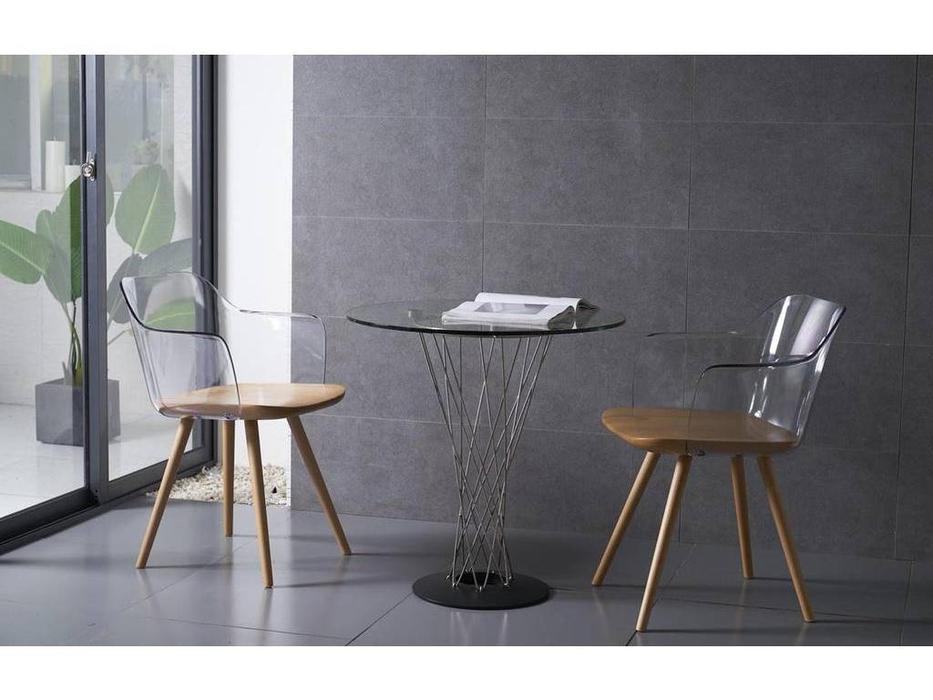ESF: стол  круглый (прозрачное стекло)