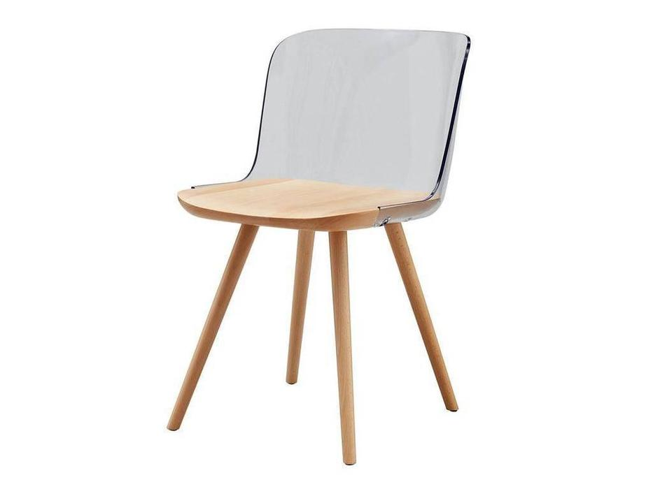 ESF: стул  (прозрачный, бук)