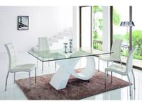 ESF: стол обеденный  (стекло, белый)