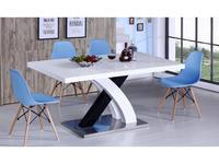 СФ: стол обеденный раскладной  (белый, чёрный)