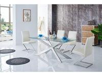 СФ: стол обеденный 160  (хром)