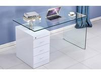 ESF: стол письменный  (стекло, белый)