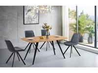 ESF: Modern: стол обеденный  (светлое дерево, черный)