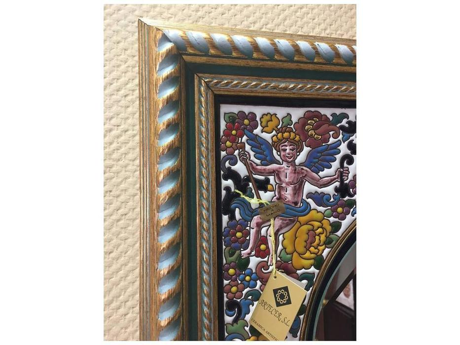 Artecer: зеркало в багете  керамика, золото