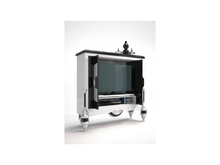 Zache: Antenzza: тумба под телевизор (Blanco Negro brillo Pan de Oro)