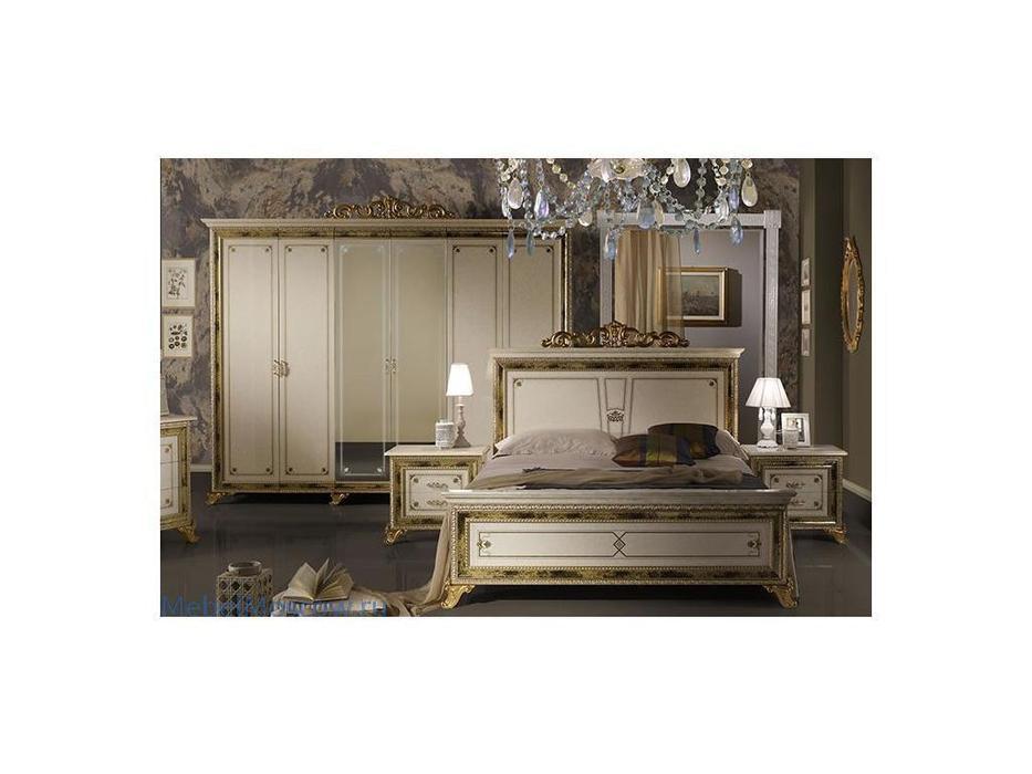Dia: Катя: шкаф 6-ти дверный с зеркалами (беж, золото)