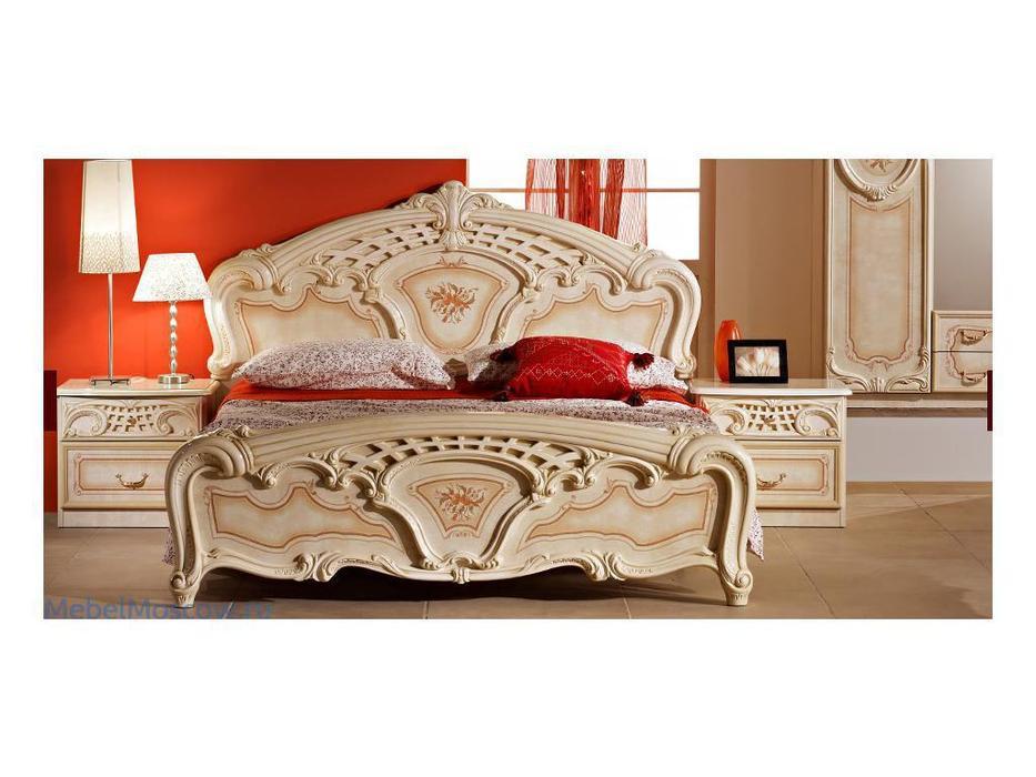 Dia: Роза: кровать двуспальная 160х200 (беж)