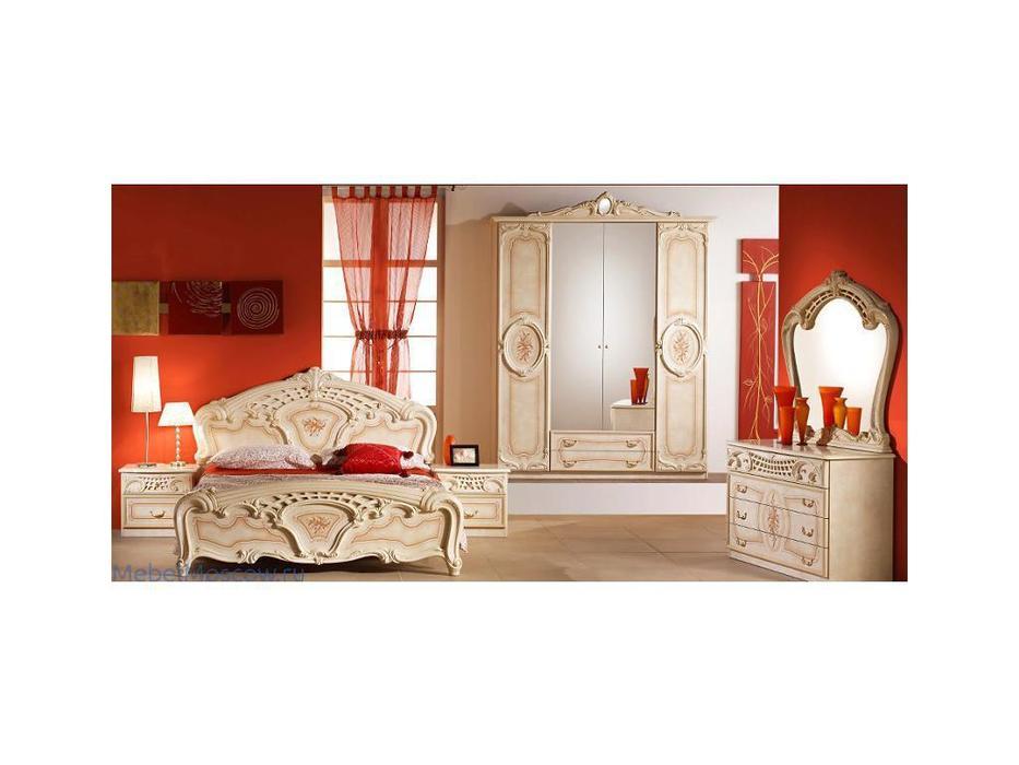 Dia: Роза: спальная комната с 4-х дверным шкафом (беж)