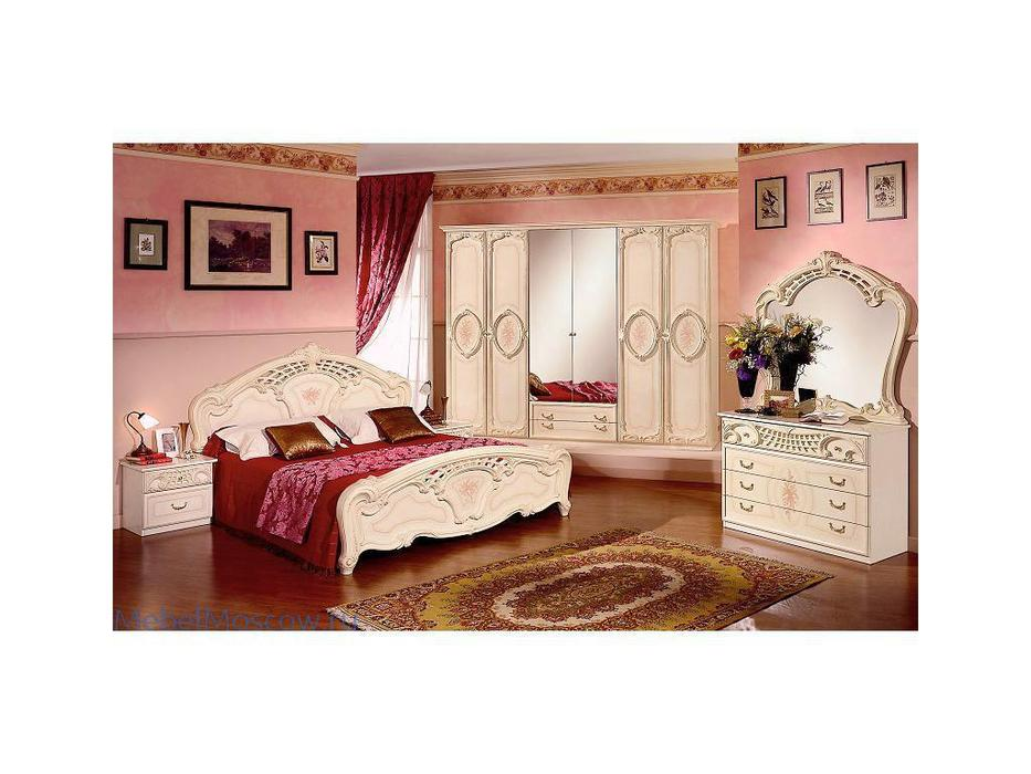 Dia: Роза: спальная комната с 6-ти дверным шкафом (беж)