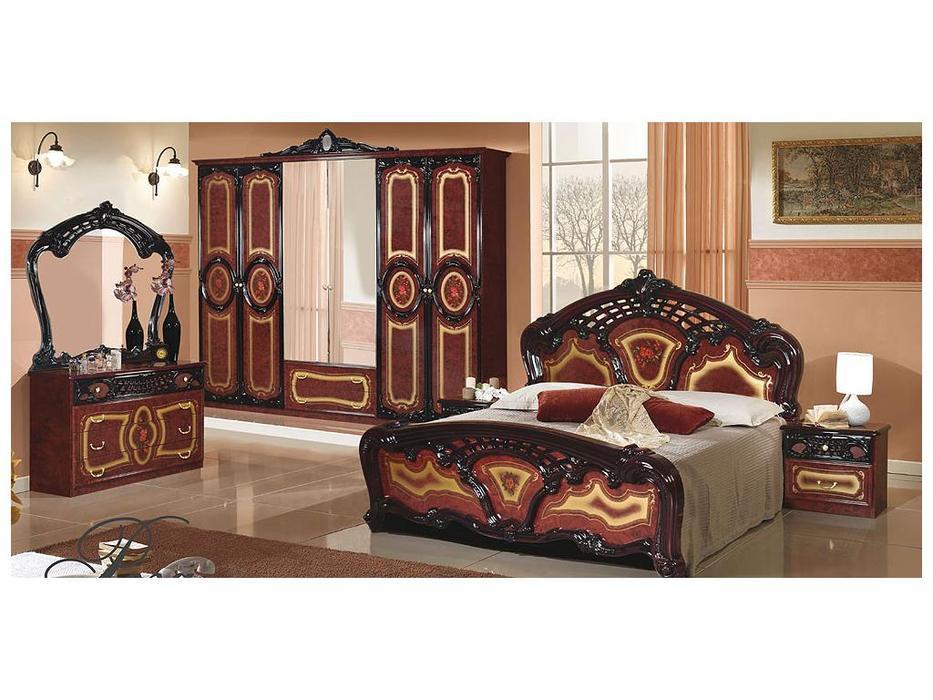 Dia: Роза: спальная комната с 6-ти дверным шкафом (могано)