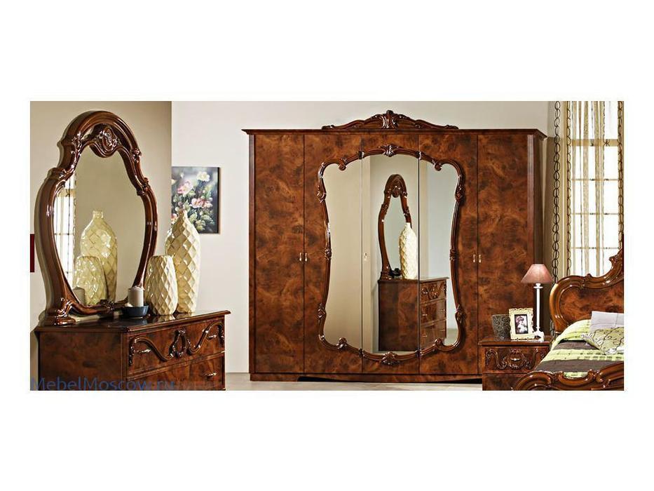 Dia: Тициана: шкаф 5-ти дверный с зеркалами (орех)