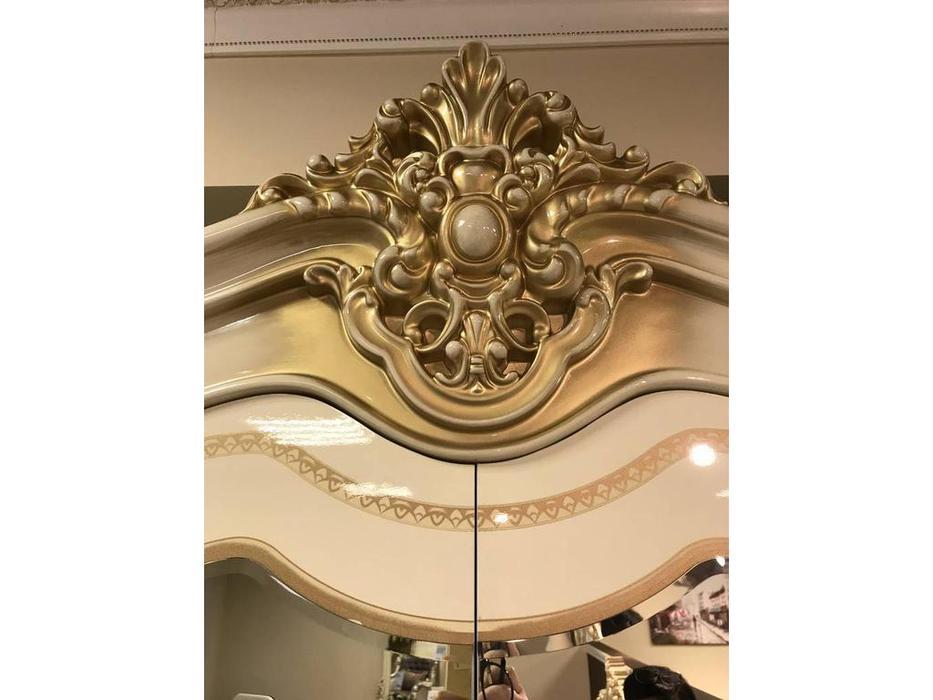 Dia: Джоконда: спальная комната с 4-х дверным шкафом (крем, золото)