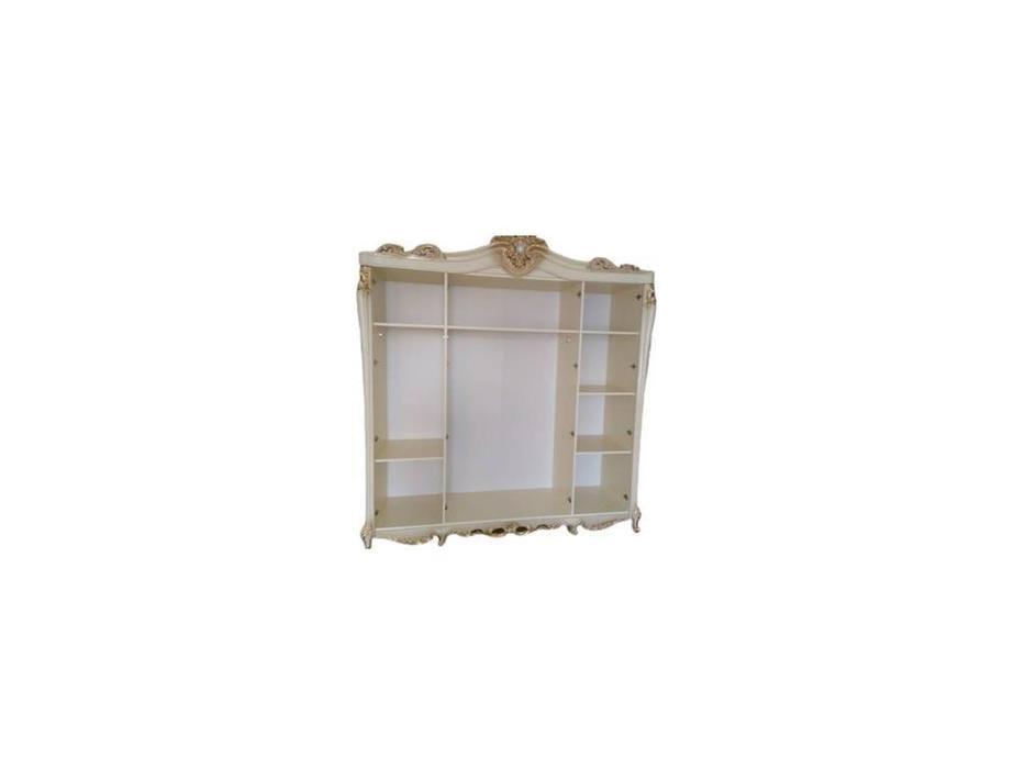Dia: Джоконда: шкаф 4 дверный с зеркалами (крем, золото)