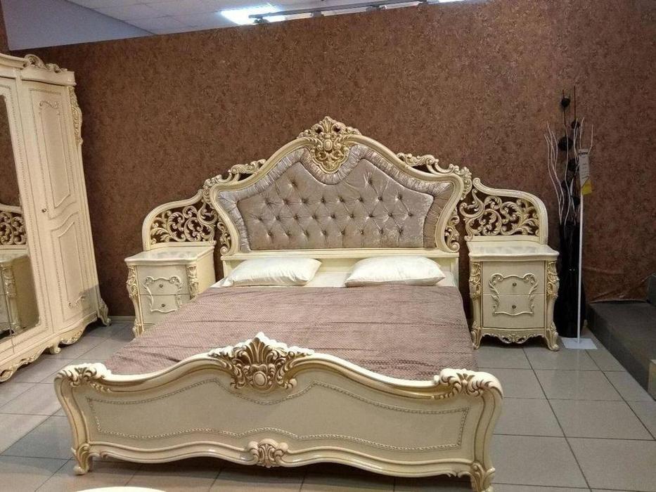 Dia: Джоконда: кровать 180х200 (крем, золото)