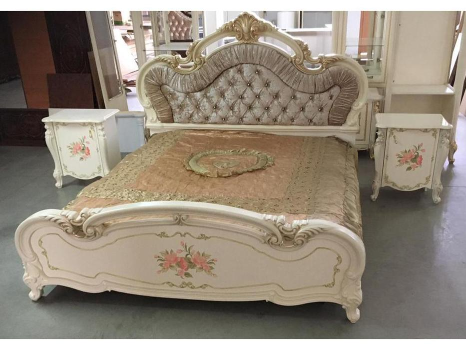 Dia: Альба: кровать двуспальная 180х200 (крем)
