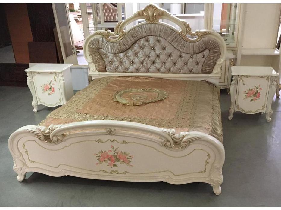 Dia: Альба: спальная комната с 4-х дверным шкафом (крем)
