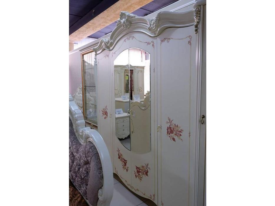 Dia: Альба: шкаф 4-ти дверный с зеркалами (крем)