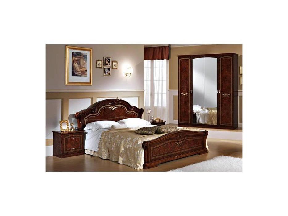 Dia: Ирина: кровать двуспальная 180х200 (орех)