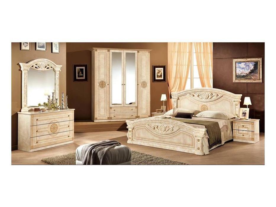 Dia: Рома: спальная комната с 4-х дверным шкафом (беж)