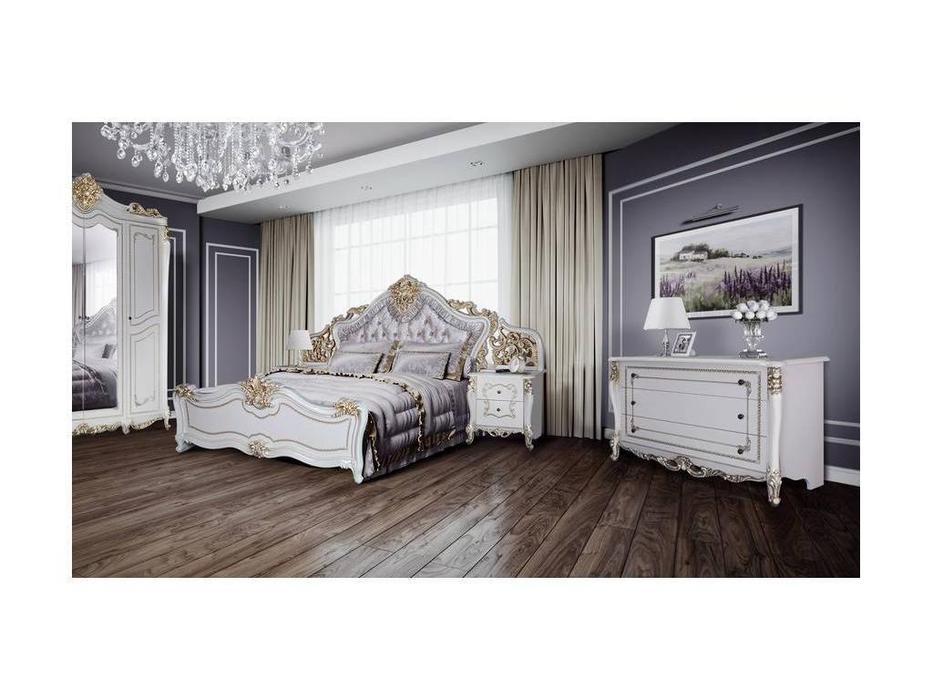 Dia: Джоконда: спальная комната с комодом (крем, золото)