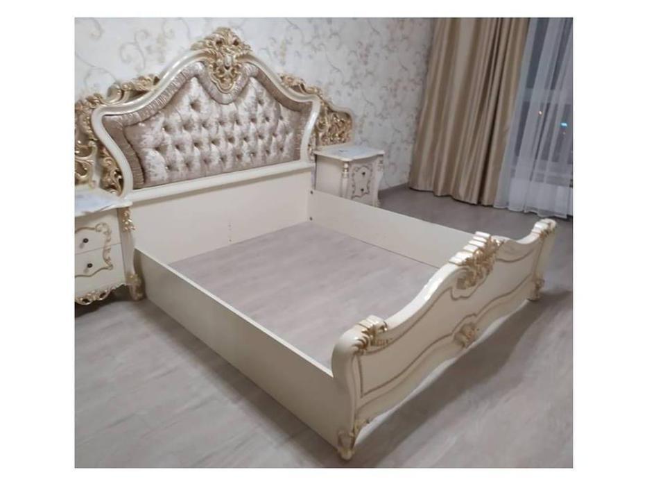 Dia: Джоконда: кровать двуспальная 160х200 (крем, золото)