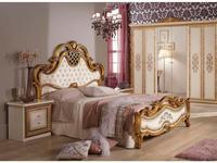 Dia: Анита: кровать двуспальная 160х200 (беж, золото)