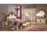 Dia: Анита: спальная комната с 6-ти дверным шкафом (беж, золото)