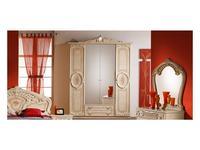 5216435 шкаф 4-х дверный Dia: Роза