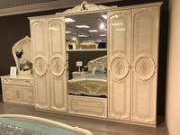 Dia: Роза: шкаф 6-ти дверный с зеркалами (беж)