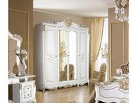 Dia: Джоконда: шкаф 4-ти дверный с зеркалами (крем, золото)