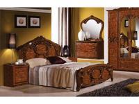 Dia: Ольга: кровать двуспальная 160х200 (орех)