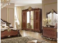 Dia: Джоконда: шкаф 4-ти дверный с зеркалами (орех, золото)