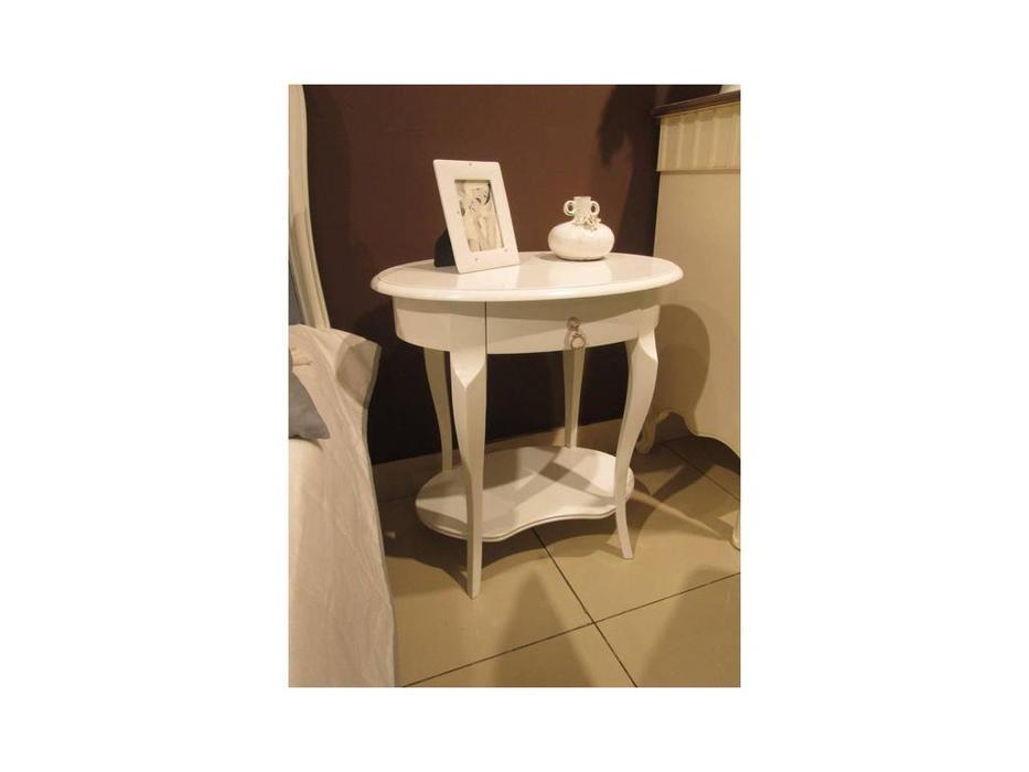 Brevio Salotti: Luisa: стол кофейный  (молочно-белый/U03)