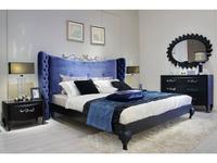 Hemis: кровать двуспальная  160х200 (матовый черный лак, ткань)
