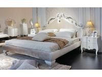 Hemis: кровать 160х200  (белый глянец, тк.перламутровый беж)
