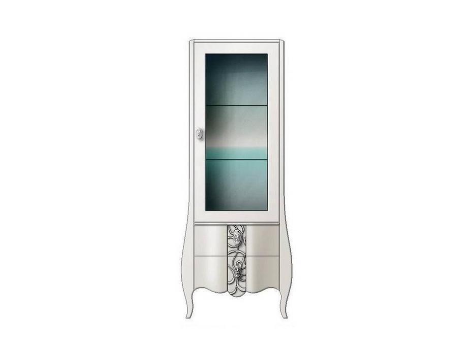 Hemis: витрина 1 дверная  (белый)