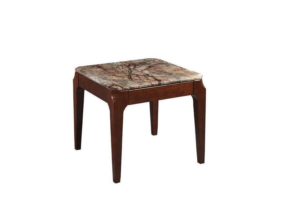 Hemis: стол журнальный  (орех, мрамор)