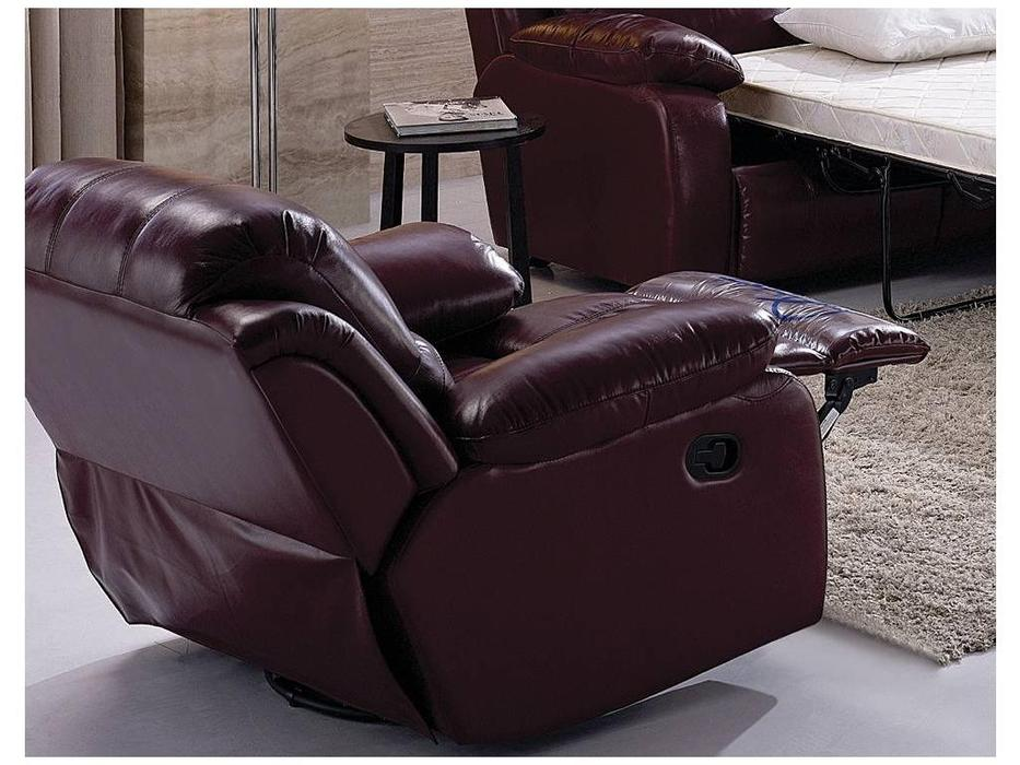 Nomec: ЕА42: кресло  с реклайнером (кожа 9219, коричневый)